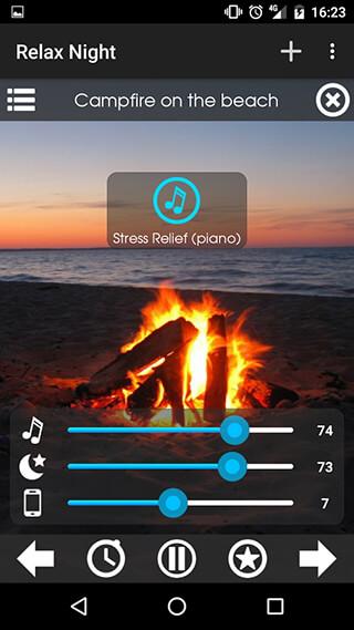 Relax NightNature Sounds скриншот 4