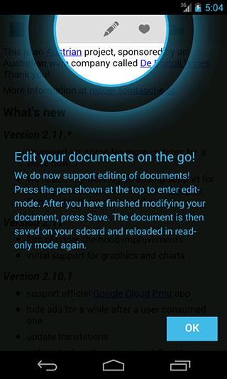 OpenDocument Reader скриншот 1
