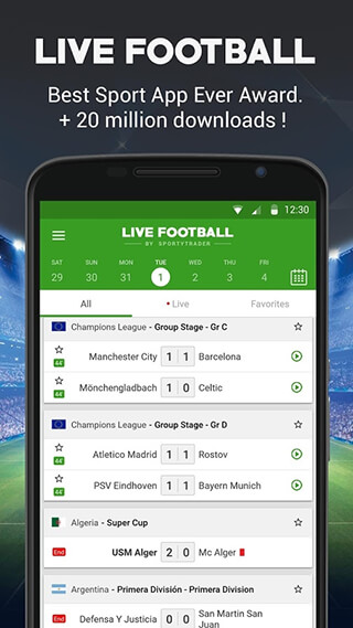 Live Football скриншот 1