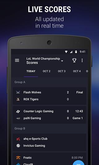 theScore esports скриншот 2