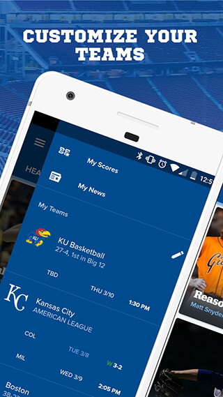 CBS Sports App: Scores, News, Stats and Watch Live скриншот 1