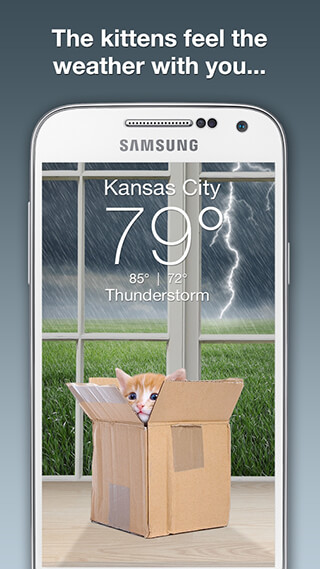 Weather Kitty скриншот 2