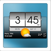 3D Flip Clock and Weather иконка