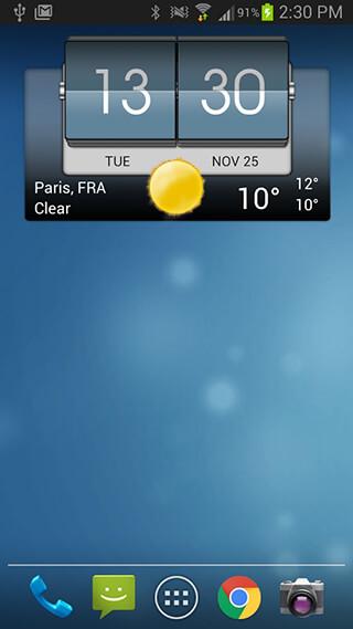 3D Flip Clock and Weather скриншот 1
