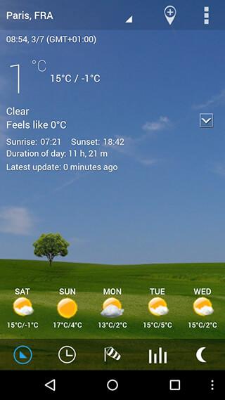 3D Flip Clock and Weather скриншот 2