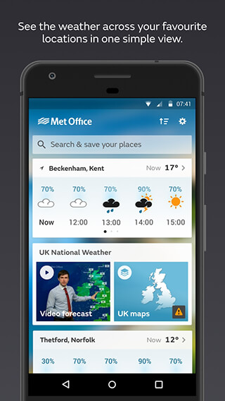 Met Office Weather Forecast скриншот 1