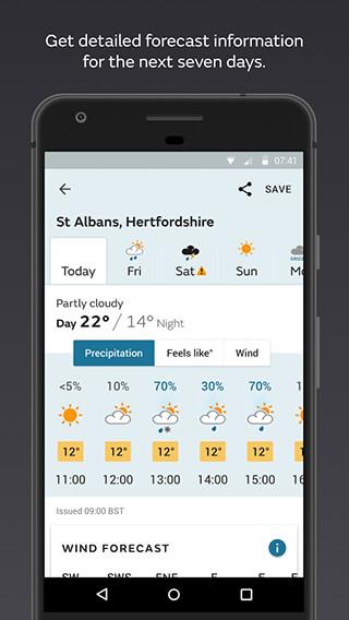 Met Office Weather Forecast скриншот 2