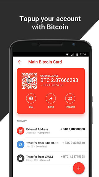 Xapo: Bitcoin Wallet and Vault скриншот 4