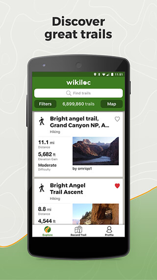 Wikiloc Outdoor Navigation GPS скриншот 1