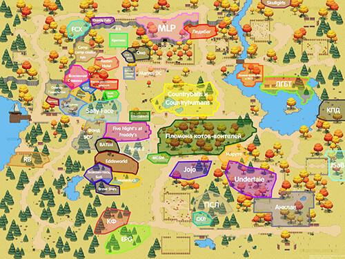Пони Таун карта